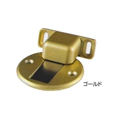 ドアストッパー 床取付用 戸まるくん ゴールド