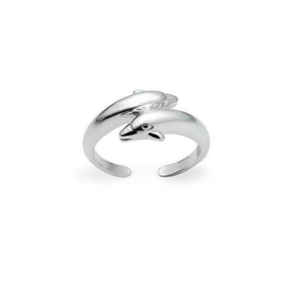 (新品) River Island Sterling Silver Polished Twin Dolphins Toe Ring