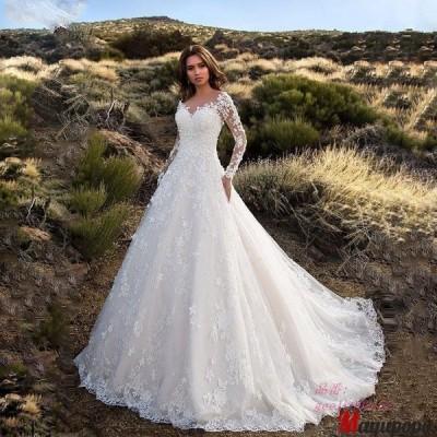 ウェディングドレス レディース 大きサイズ 花嫁 ウェディング プリンセスドレス 結婚式ドレス 披露宴 ロングドレス 白ドレス 結婚式 披露宴 発表会演奏会