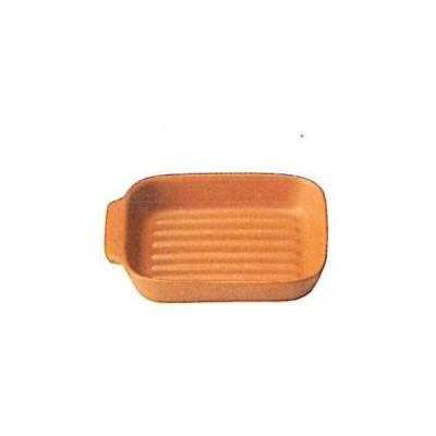 トースター用 グラタン皿波型 茶 〔萬古焼 耐熱食器 耐熱便利小物〕