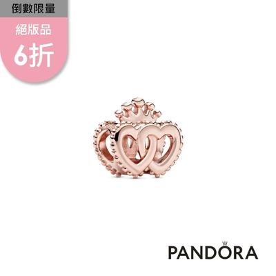 【Pandora官方直營】皇冠雙心串飾
