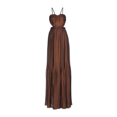 アンナリータ エンネ ANNARITA N ロングワンピース&ドレス ブロンズ 42 ポリエステル 100% ロングワンピース&ドレス