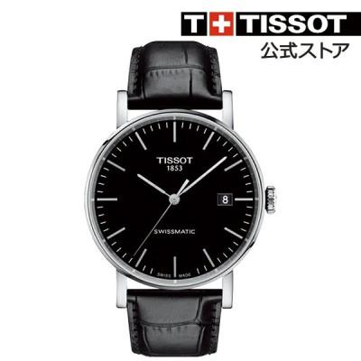 【ティソ 公式】 メンズ 腕時計 TISSOT エブリタイム スイスマティック  自動巻き T1094071605100 ブラック文字盤