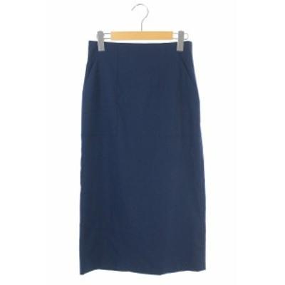 【中古】デプレ DES PRES トゥモローランド 18SS スカート ロング タイト 34 紺 /HH ■OS レディース