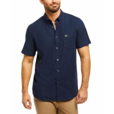 ラコステ メンズ シャツ トップス Men's Oxford Shirt Marine Navy