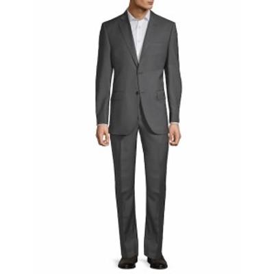 サックスフィフスアベニュー Men Clothing Wool Pincheck Suit