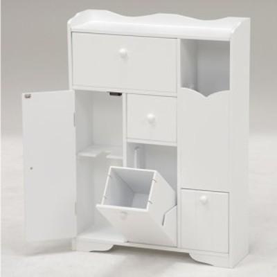 トイレ収納ラック 幅45cm 薄型/スリム/大容量 ホワイト