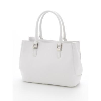 Y'SACCS(bag) (イザック(バック)) レディース プリズム型押しトートバッグSサイズ ホワイト FREE