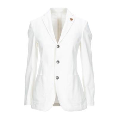 ラルディーニ LARDINI テーラードジャケット ホワイト 40 コットン 98% / ポリウレタン 2% テーラードジャケット
