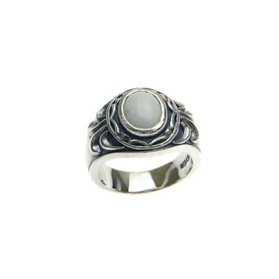 シルバー925×ハウライト カレッジリング文字入れ刻印可能  ペアリング 結婚指輪 マリッジリング