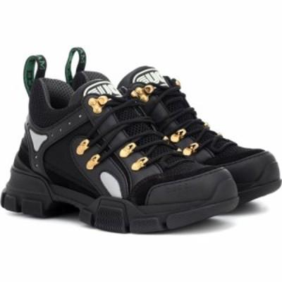 グッチ Gucci レディース スニーカー シューズ・靴 flashtrek leather sneakers Ne/Sil