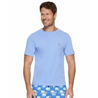 トムアンドテディ シャツ トップス メンズ Solid Short Sleeve T-Shirt Chambray Blue