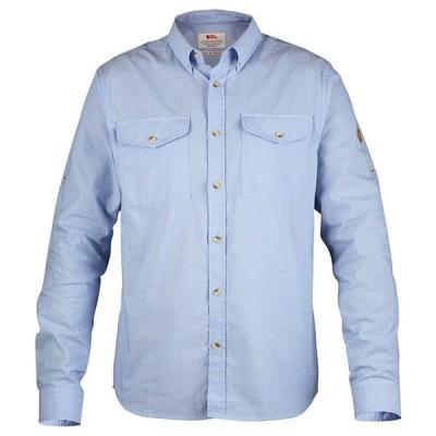 フェールラーベン メンズ シャツ トップス Ovik Chambray Long-Sleeve Woven Organic Cotton Shirt