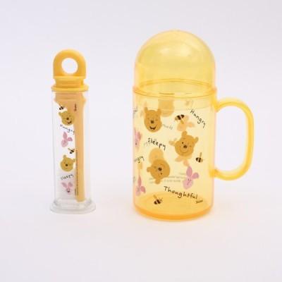 歯ブラシ プーさん 携帯デンタルキット Pooh/TRKS1 キャラクター ディズニー プー 歯ブラシ 歯磨き 衛生用品 外出 旅行 携帯 コップ 子ども 子供 プレゼント