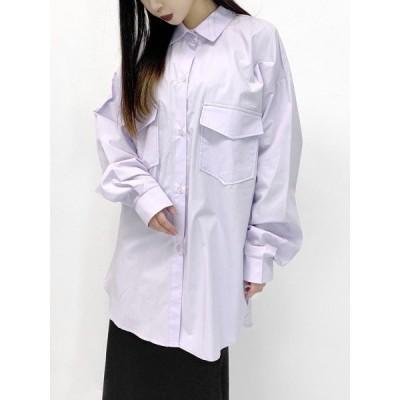 シャツ ブラウス Back design slit shirt / バックデザインスリットシャツ