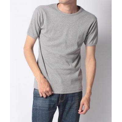 【Amerikaya】 アヴィレックス テレコリブ半袖クルーネックTシャツ メンズ グレイ L Amerikaya
