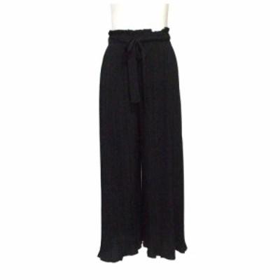 【新品】 PARK GIRL パークガール プリーツワイドパンツ (黒) 109544