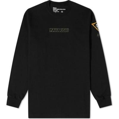 マハリシ Maharishi メンズ 長袖Tシャツ トップス long sleeve ox insignia tee Black