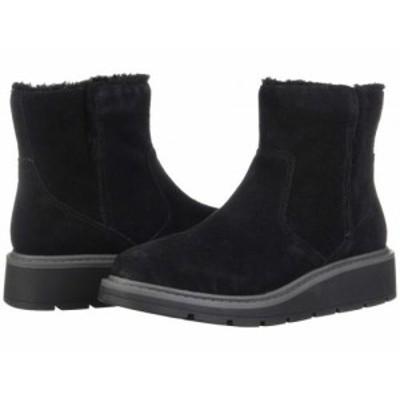 Clarks クラークス レディース 女性用 シューズ 靴 ブーツ アンクル ショートブーツ Ivery Opal Black Warm Lined Suede【送料無料】