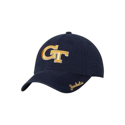 大学 NCAA トップオブザワールド Top of the World Georgia Tech Yellow Jackets Women's Navy Crew Adjustable Hat