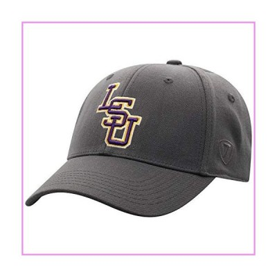 Top of the World Lsu Tigers Men's Premium Collection One-Fit Memory Fit Hat Charcoal Icon, Adjustable【並行輸入品】