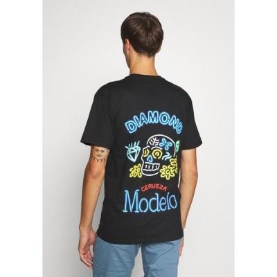 ダイヤモンドサプライ Tシャツ メンズ トップス NEON SIGN TEE - Print T-shirt - black