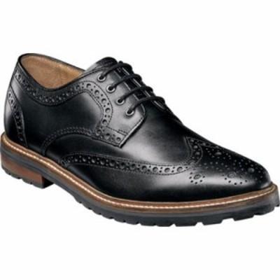 フローシャイム 革靴・ビジネスシューズ Estabrook Wingtip Derby Black Leather