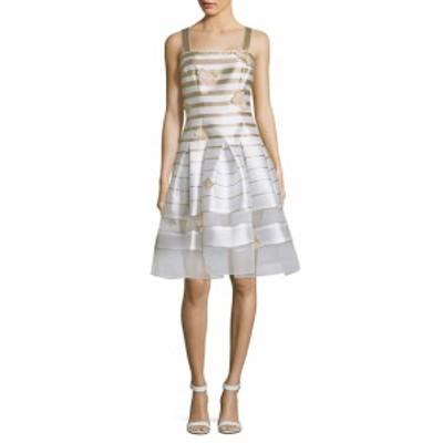 カーメンマークバルボ レディース ワンピース Striped Organza Dress