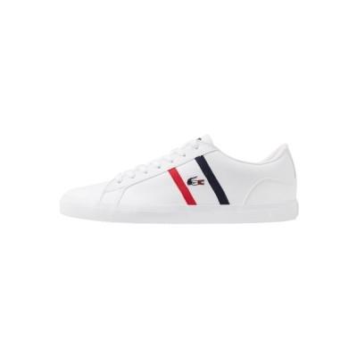 ラコステ スニーカー メンズ シューズ LEROND - Trainers - white/navy/red
