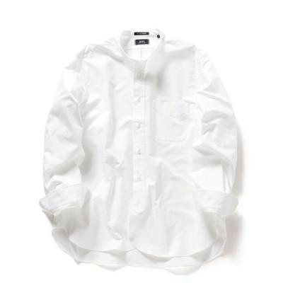 シャツ ブラウス SHIPS×IKE BEHAR: アメリカ製 オックスフォード バンドカラー シャツ