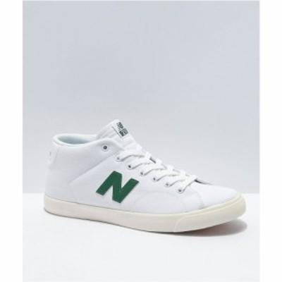 ニューバランス NEW BALANCE メンズ スケートボード シューズ・靴 New Balance Numeric All Coast 210 Mid White and Green Skate Shoes
