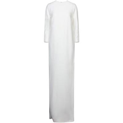 ハイダー アッカーマン HAIDER ACKERMANN ロングワンピース&ドレス ホワイト 36 レーヨン 100% ロングワンピース&ドレス