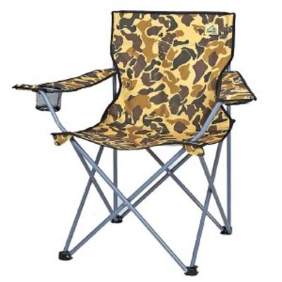 折りたたみチェア ラウンジチェア キャンプアウト カモフラージュ バッグ付き CAPTAIN STAG ( キャプテンスタッグ 折りたたみ椅子 アウ