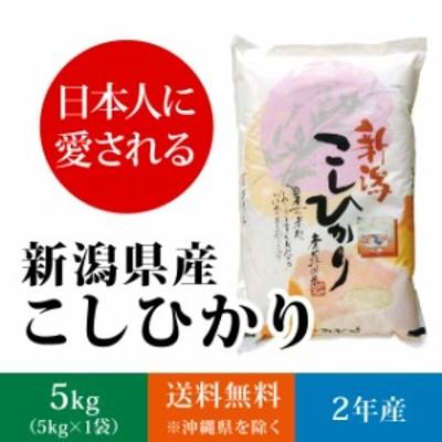 【日本人に愛される】新潟県産 コシヒカリ 5kg (5キロ×1袋)【送料無料 ※沖縄へは別途送料】 米 5キロ 送料無料 精米 令和2年 5kg お
