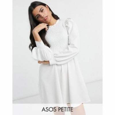 エイソス ASOS Petite レディース ワンピース ベビードール ワンピース・ドレス Petite Knitted Babydoll Dress With Shirring Detail In