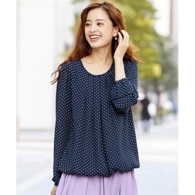 【大きいサイズ】 人気のため新色追加!!タックバルーンブラウス(吸汗速乾裏地付)  plus size shirts, テレワーク, 在宅, リモート