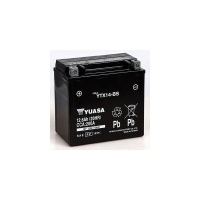 台湾ユアサ 台湾YUASA  密閉型メンテナンスフリーバッテリー(MF)   TYTX14-BS  バルカン800クラシック、バルカン800 ドリフター、ZRX1100II