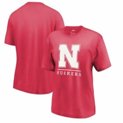 Pressbox プレス ボックス スポーツ用品  Pressbox Nebraska Cornhuskers Womens Scarlet Kenzie Melange T-Shirt