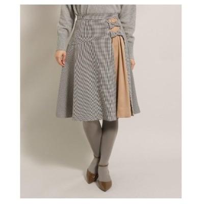 Bon mercerie(ボン メルスリー)【SSサイズあり】ウーリッシュツイルリボンフレアスカート