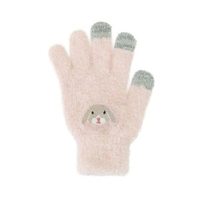 スマホ手袋 ロップイヤー 17319631082    フリーサイズ(レディース)
