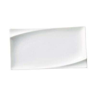プレノ 24cm 長角皿 白い器 洋食器 長角プレート(M) 業務用 カネスズ 約L23.8cm 長皿 角皿 中皿 前菜