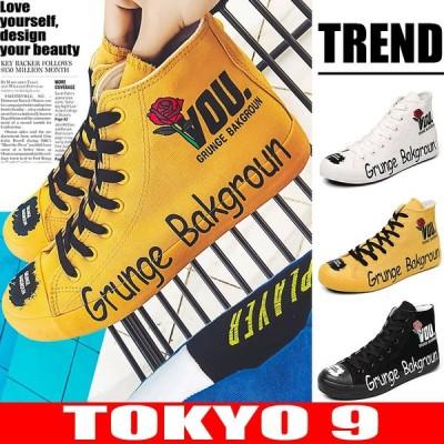 スニーカー メンズ 春夏 インスタ映え 韓国 アメカジ 靴 ダンス 衣装  卸 ビッグ 原宿系 ロゴ バラ HIPHOP TOKYO9