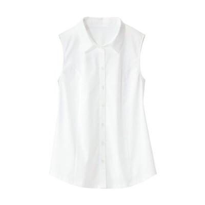 【ぽっちゃりさんサイズ】後カットソーノースリーブシャツ L LL 3L|3384-397039