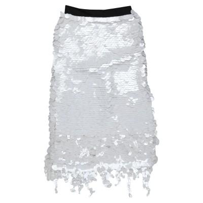 マルニ MARNI 7分丈スカート ホワイト 40 シルク 95% / バージンウール 5% / ビニール 7分丈スカート