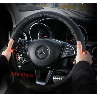 本革ハンドルカバーステアリングカバーカーハンドルカバー38cmMサイズ普通車汎用自動車内装ドライビング