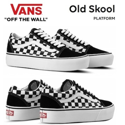 [VANS] バンズ Old Skool Platform オールド スクール プラットフォーム (Checkerboard) black / true white VN0A3B3UHRK