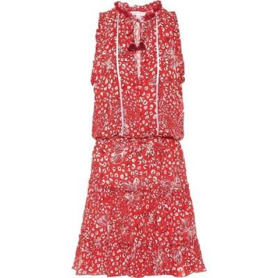 プーペット セント バース Poupette St Barth レディース ワンピース ワンピース・ドレス Exclusive to Mytheresa - Clara printed minidress Red Farfalla