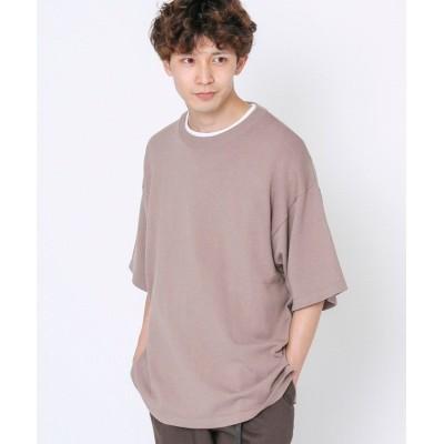 【コーエン】 コットンバンブーサマーニットTシャツ メンズ BEIGE SMALL coen