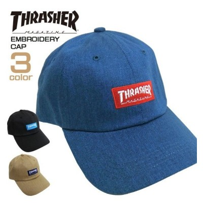 THRASHER キャップ ロゴ刺繍 帽子 メンズ スラッシャー ロゴ ローキャップ ボックスロゴ レディース 小物 THRASHER-1052