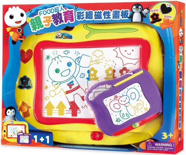 親子教育彩繪磁性畫板:FOOD超人